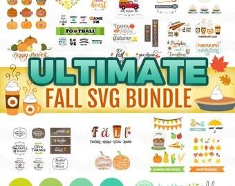 Fall SVG Bundle: Fall SVG Files, Autumn svg Bundle, It's Fall Y'all svg, fall svg bundle, DXF Silhouette Cameo, Cricut Fall Cut Files