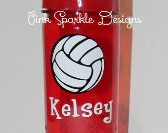 Kids Water Bottle - Volleyball - Personalized