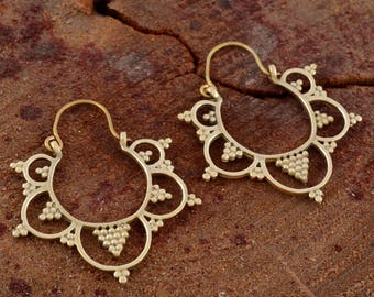 Indian tribal earrings tribal jewellery bohemian earrings ethnic earrings hoop earrings indian earrings gypsy earrings brass earrings