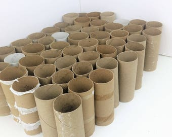 50 Empty Toilet Paper Rolls for Crafting