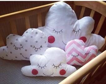 Sleepy Cloud Pillow, Nursery Decor, Kids Room Decor, Baby Shower Gift, Pillow, Gender Neutral, Cloud Pillow, READY TO SHIP!