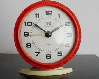 Vintage Kuco Vityaz alarm clock mechanical soviet ussr