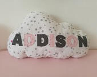 cloud pillow personalized with name
