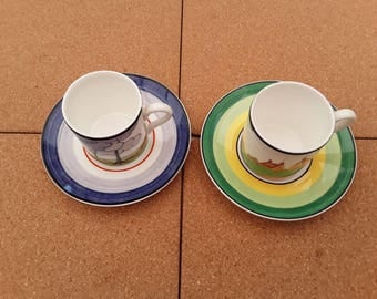 Clarice Cliff ,Wedgewood Cups and saucers.