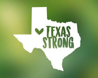 Texas Strong decal - Yeti decal, Yeti decal for women, car window decal, Ozark decal, mug decal, laptop decal