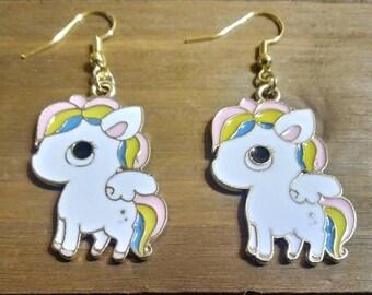 Rainbow Pony Drop Earrings