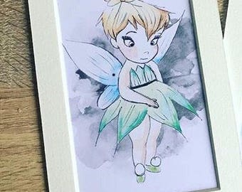 DISNEY inspired Baby tinkerbell painting print