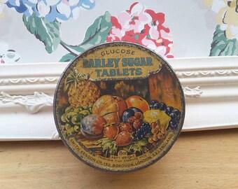 Vintage Glucose Barley Sugar Tablets tin, Smith Kendon Chemist's tablets