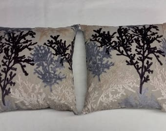 2 pc Vintage Home Decor Pillow Case Sofa Waist Throw Cushion Cover with insert