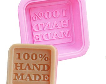 """Mould square """"100% hand made"""""""
