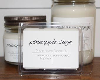 Pineapple Sage Soy Candle // Soy Wax Melt