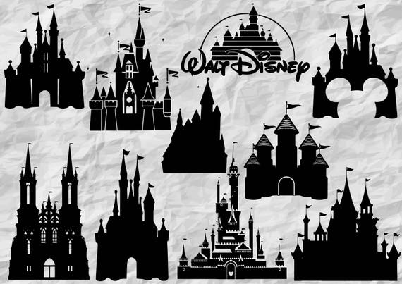 10 Disney Castle Silhouettes Disney Castle Svg Cut Files