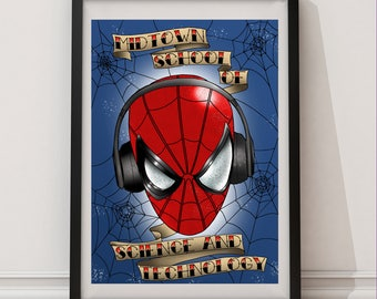 Spider-Man Homecoming Tattoo Print