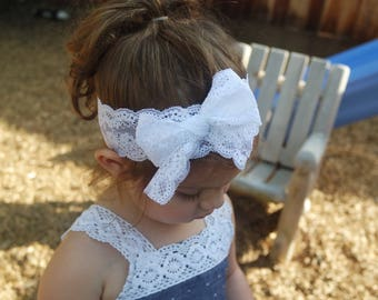 Darling white lace headband