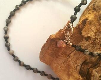GEMSTONE - Spiderweb Jasper jewellery set