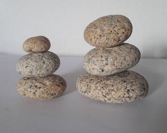 6 French pebbles / stones french