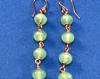 Green Jade Earring Dangles.