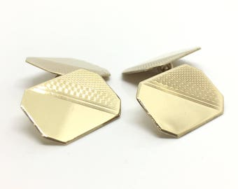 Antique Gold Cufflinks | 1938 Chester Hallmark | Edwardian Cufflinks | 9ct Gold Cufflinks | Vintage Jewellery Cufflinks
