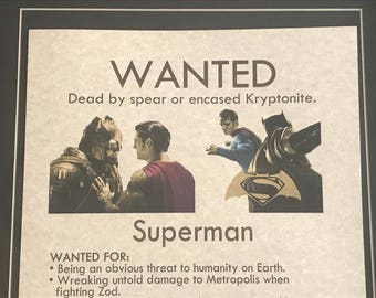 Superman - Wanted Poster