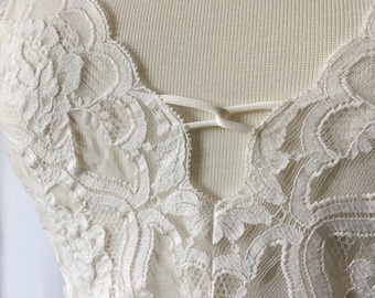 1970s Vintage Vanity Fair Lace and Nylon Camisole