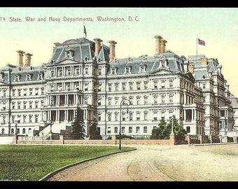 Washington DC Postcard State War Navy Departments  PC