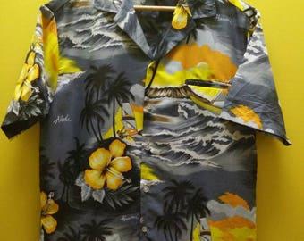 Vintage HAWAII ALOHA Button Down T Shirt Rare