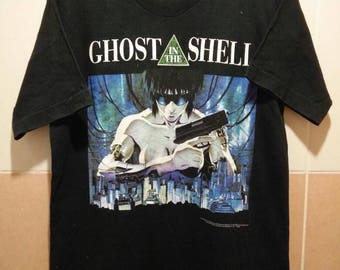 Vintage 90s Ghost in the shell T Shirt Rare Japanese Anime Akira