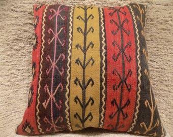 22x24 large kilim pillow cover,turkish kilim pillow,vintage pillow,decorative pillow,pillow,bohemian pillow,kilim cushion cover