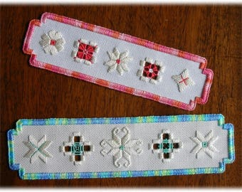 Hardanger embroidery - Windows on the World bookmarks