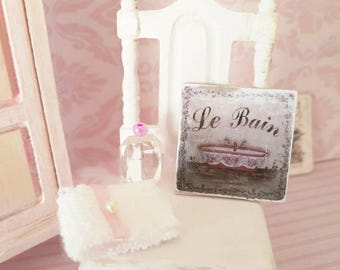 Dollhouse Miniatures,Miniatures for dollhouse,LeBain Sign,Distressed Sign,1:12th Scale,Shabby Cottage Chic,Vintage Inspired,Home Decor