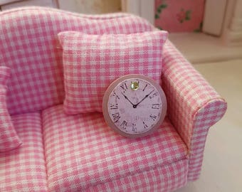 Dollhouse Miniature,Doll house Miniatures,Shabby Chic Miniatures,Dollhouse Wall Clock,Miniature Clock, 1:12th Scale,Shabby Chic Clock