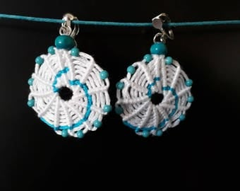 Earrings / model: spiral and beads