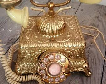 1970s Victorian French Style Rotary Dial Radio Shack Telephone Works!