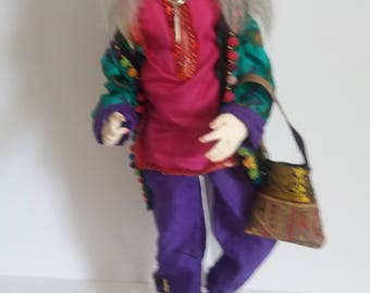 Suzi Hippy, cloth Art doll. One of a kind older child of the 60s
