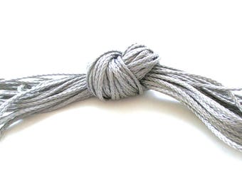 Polyester yarn - cord pacifier 1.5 mm-grey