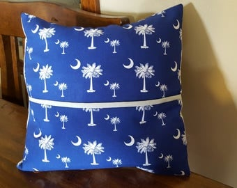 Palmetto Tree Pocket Pillow Cover