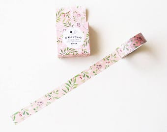 Floral Leaves Washi Tape/Striped Washi / Masking tape/ japanese washi tape/Planner Supplies