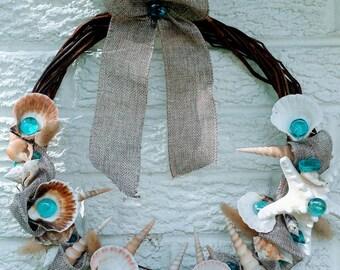 Sea shell Wreath or Door hanger