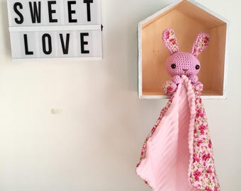 Crochet with fabric Bunny plush