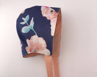 RTS- Elousie - Reversible Baby Bonnet