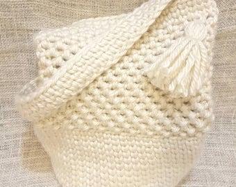Crochet Market Tote - Beach Bag - Cream Tote Bag - Crochet Tote