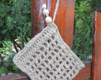 jute exfoliator crochet washcloth natural body scrubber skin care body spa bath back scrubber spa accessories peeling back massage washer