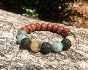 Amazonite Defuser Bracelet