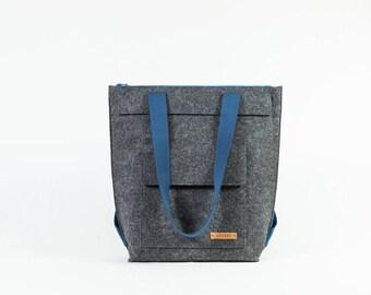 Bag, shopping bag, tote bag made of felt, designer bag, shopper, bag backpack, gift, felt, felt, handmade [cana]