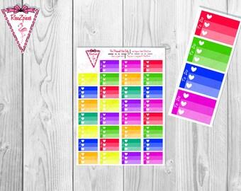 Printable *CUSTOM* Half Box Checklists - Bright Colors