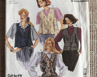 Vintage 1980's McCall's 0021 Sewing Pattern Misses' Vest
