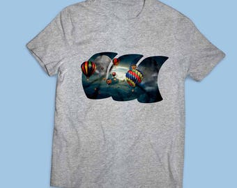 Balloons in the sky - Men's T-shirt I Tee