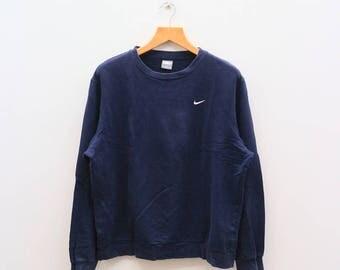 Vintage NIKE Small Logo Sportswear Blue Sweater Sweatshirt Size XL
