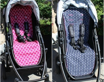 UPPAbaby Vista Reversible  Stroller/Pram Liner - Navy and Pink - Ready to ship!
