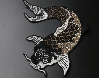 Fish Appliques, Embroidered Patches